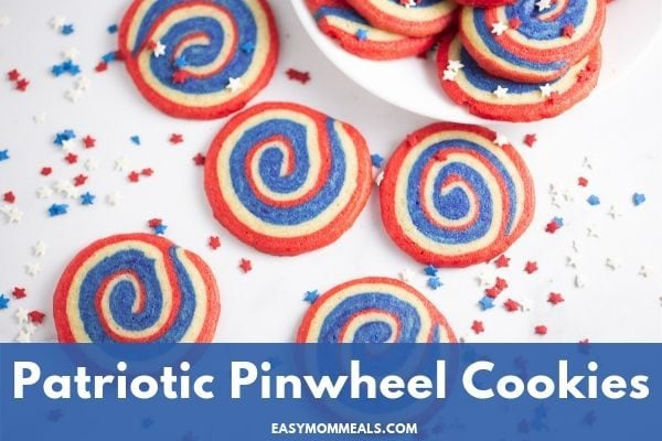Patriotic Pinwheel Sugar Cookies {Easy & Cute!}