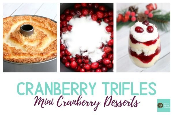 Mini Cranberry Trifle Dessert Cup Recipe {Fresh & Festive}