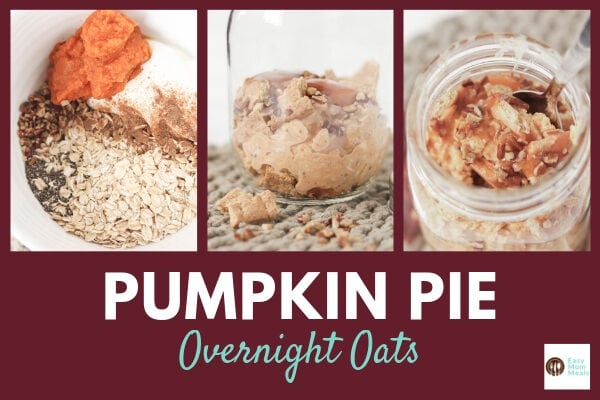 Pumpkin Pie Overnight Oats {with Caramel}