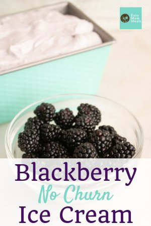 blackberry no churn ice cream