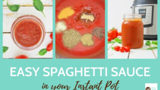 Instant Pot Spaghetti Sauce {homemade from scratch}