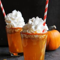 Homemade pumpkin spice soda