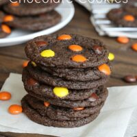Reese's Pieces Chocolate Cookies