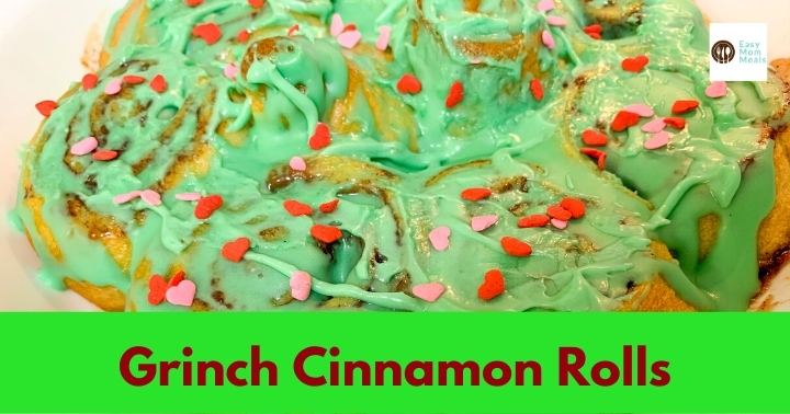 Grinch Christmas Cinnamon Rolls