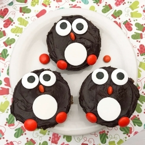 Penguin Christmas Brownies