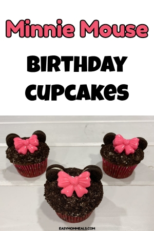 Minnie Mouse birthday cupcakes