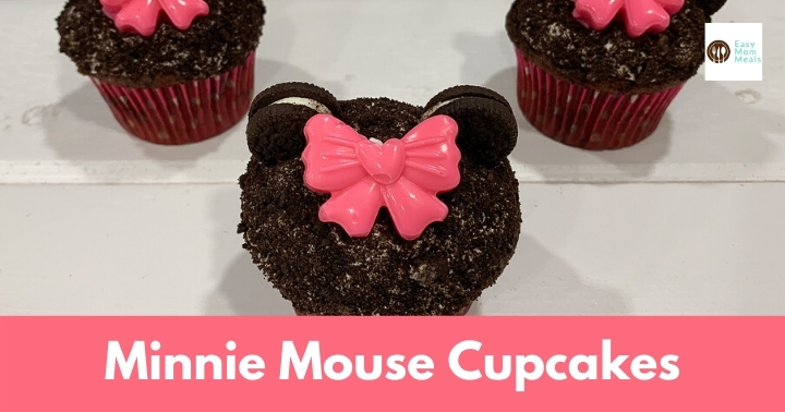 Easy DIY Minnie Mouse Cupcakes