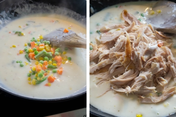 chicken pot pie noodle recipe