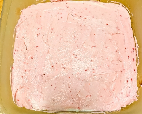 raspberry cheesecake layer
