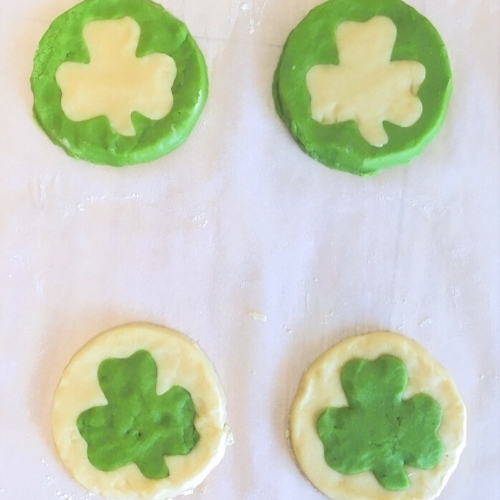 shamrock sugar cookie dough