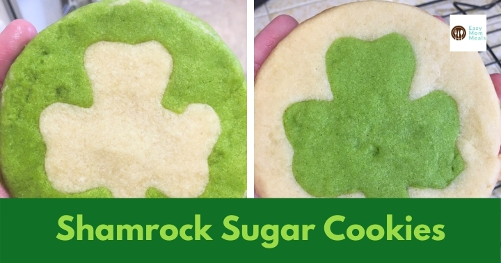 St. Patrick's Day sugar cookies {Hidden Shamrock}