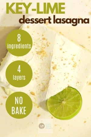 no bake key lime dessert lasagna
