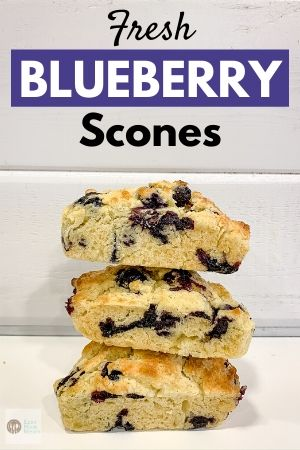 stack of blueberry scones