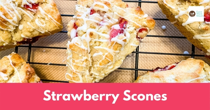 Scrumptious Strawberry Scones {glaze optional}