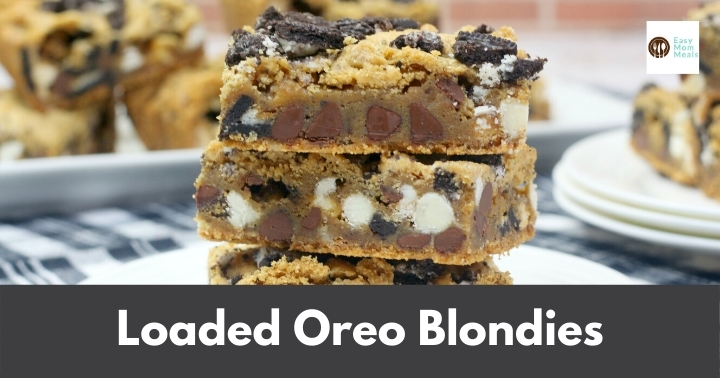 loaded oreo blondies
