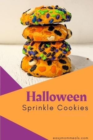 Halloween sprinkle cookies