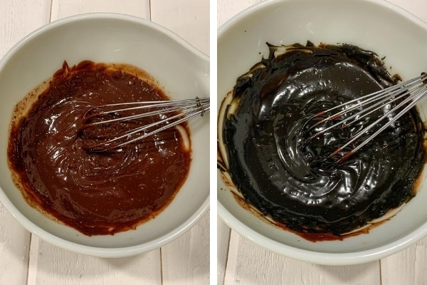 making black chocolate ganache