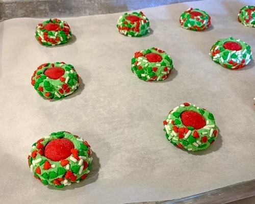 christmas thumbprint cookie