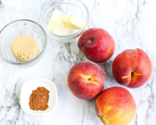 ingredients for air fryer peaches