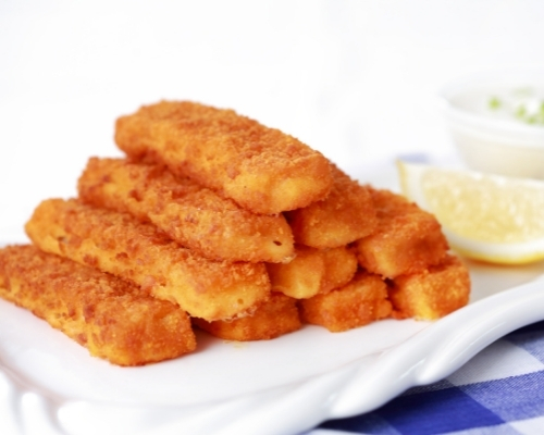 fish sticks in a stack